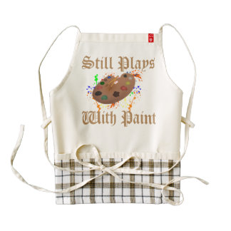 Still Plays with Paint Zazzle HEART Apron