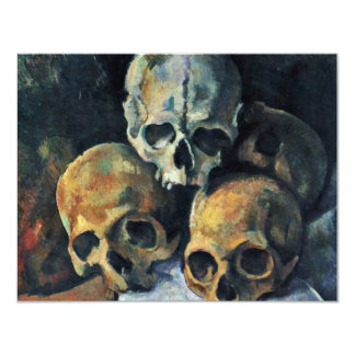 Still Pyramid Of Skulls By Paul Cézanne Personalized Announcements