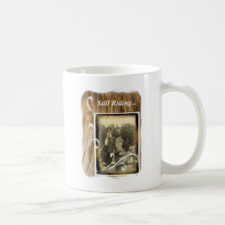 Still Riding Little Cowgirl Horse Vintage Photo Coffee Mug