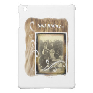 Still Riding Little Cowgirl Horse Vintage Photo iPad Mini Cover