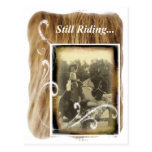 Still Riding Little Cowgirl Horse Vintage Photo Postcards