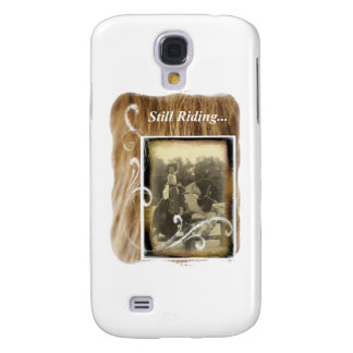 Still Riding Little Cowgirl Horse Vintage Photo Samsung Galaxy S4 Cover