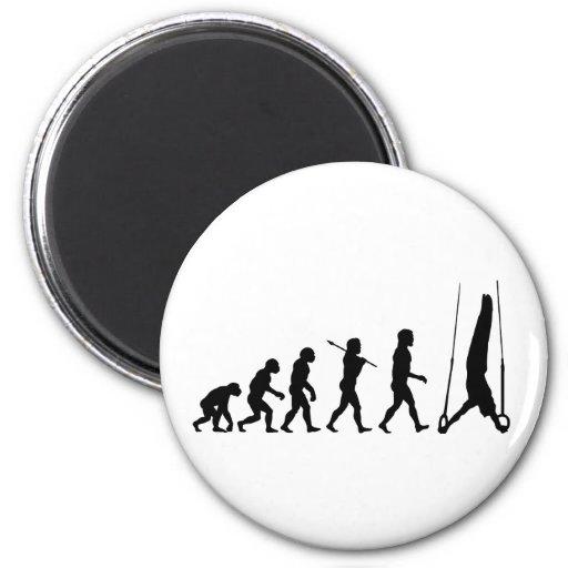 Still Rings Gymnastics Sport Evolution Refrigerator Magnet