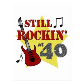 Still Rockin' at 40 Postcard