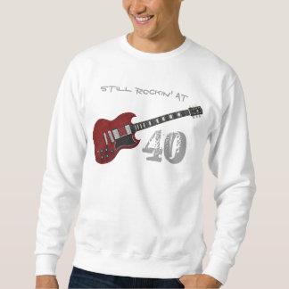 Still Rockin' at 40, red & black guitar Sweatshirt