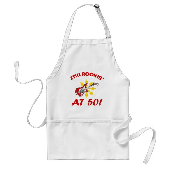 Still Rockin' At 50! Adult Apron