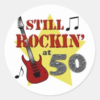 Still Rockin' At 50 Classic Round Sticker