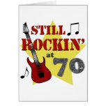 Still Rockin' At 70 Greeting Cards