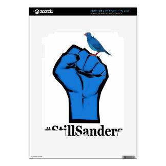 Still Sanders Fist White shirt Decal For iPad 3