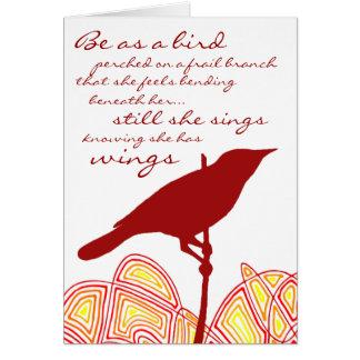 Still She Sings Greeting Card