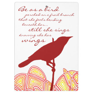 Still She Sings (Quote on Back) Clipboards
