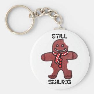 Still Smiling Gingerbread man keychain