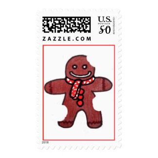 Still SMiling Gingerbread Man Postage