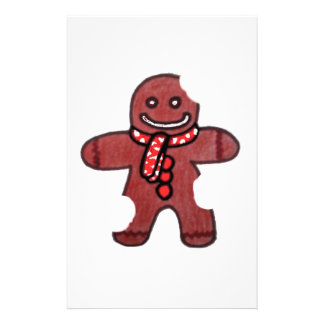 Still Smiling Gingerbread Man Personalized Stationery
