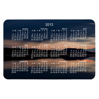 Still Sunset; 2013 Calendar Magnet