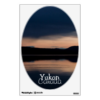 Still Sunset; Yukon Territory Souvenir Wall Sticker