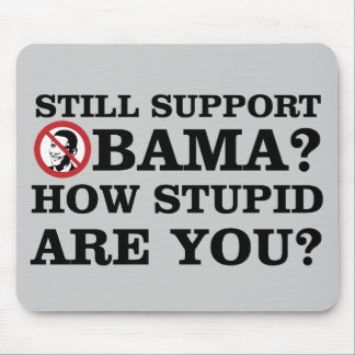 Still Support Obama? How Stupid Are You? Mouse Pad