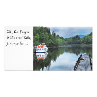 STILL WATER, My love for you is like ... Photo Greeting Card