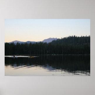 """Still Water on Serene Lake"" Poster"