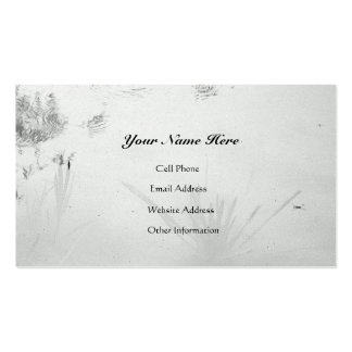 Still Water Reflects/B&W Pond Reflections Double-Sided Standard Business Cards (Pack Of 100)