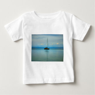 Still water with yacht baby T-Shirt
