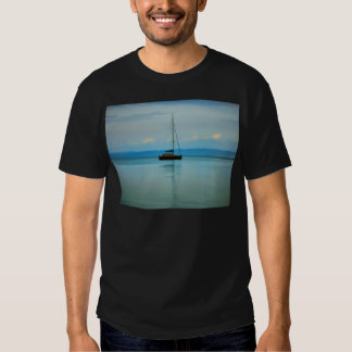 Still water with yacht T-Shirt