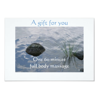 Still Waters Gift Certificate 3.5x5 Paper Invitation Card