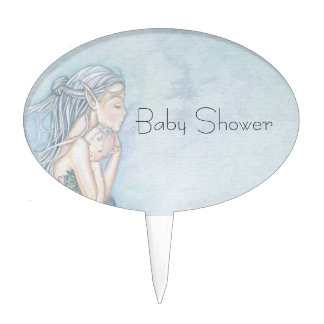 Still Waters Mermaid Mother and Infant Baby Shower Cake Topper