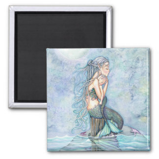 Still Waters Mermaid Mother and Infant Baby Shower Magnet