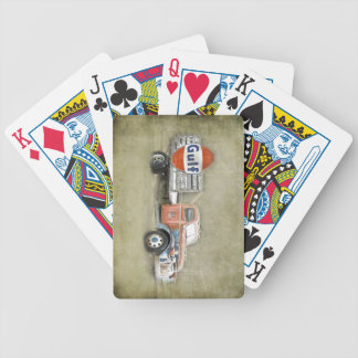 Still Work Vintage Truck Bicycle Playing Cards