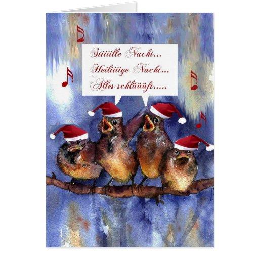 stille nacht weihnachten german language christmas card. Black Bedroom Furniture Sets. Home Design Ideas