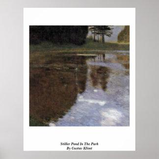 Stiller Pond In The Park By Gustav Klimt Print