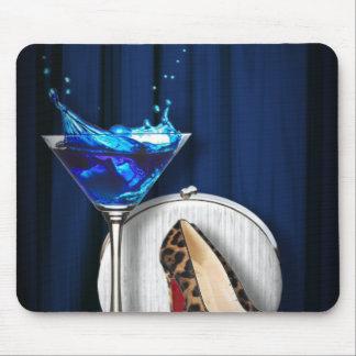 stilletos femeninos de martini de la moda de lujo tapetes de ratón