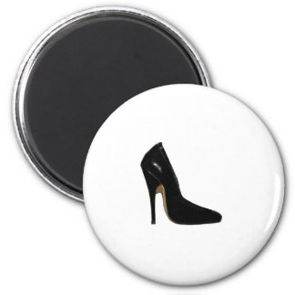 Stilletto Heel Right Side Black The MUSEUM Zazzle Fridge Magnet
