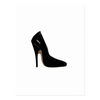 Stilletto Heel Right Side Black The MUSEUM Zazzle Post Cards