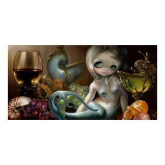 Stilleven II: Sirena de la IMPRESIÓN del ARTE de Z Posters