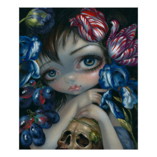 Stilleven VII:  Bloesem ART PRINT lowbrow art