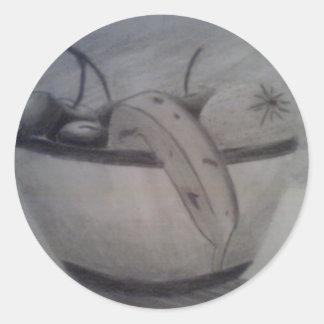 stilllife classic round sticker
