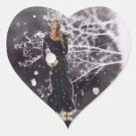 Stillness Within Heart Sticker