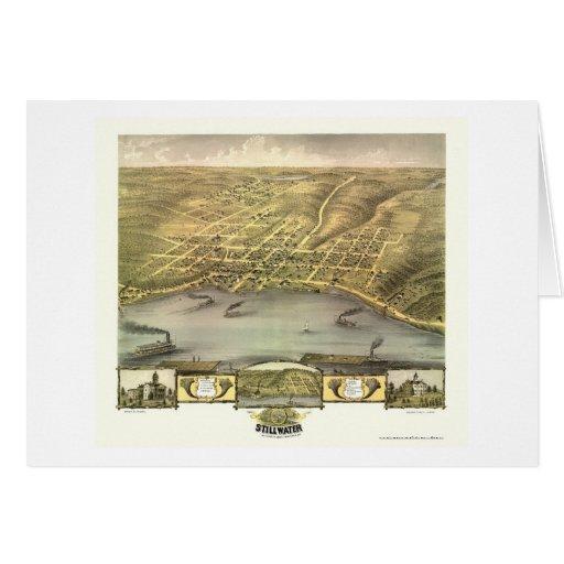 Stillwater, MN Panoramic Map - 1870 Card