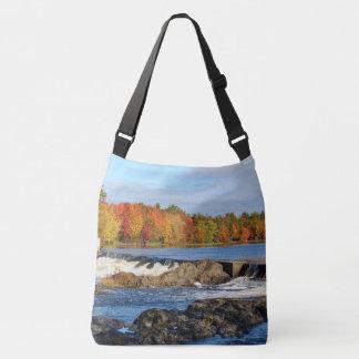 Stillwater River Autumn Landscape 2015 II Crossbody Bag