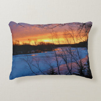 Stillwater River Bennoch Road Twilight Decorative Pillow