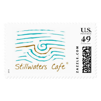 Stillwaters Cafe Logo Stamp