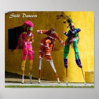 Stilt Dancers Poster