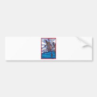 stilt fishing bumper sticker