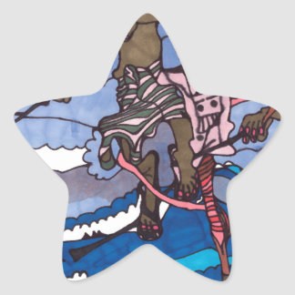 stilt fishing star sticker