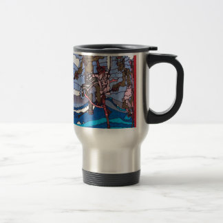 stilt fishing travel mug