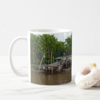 Stilt houses on Amazon river Coffee Mug