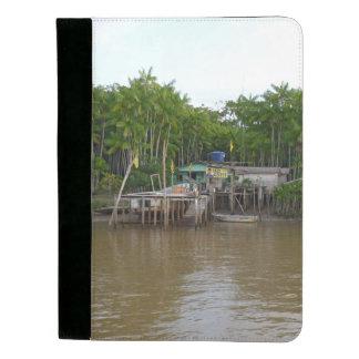 Stilt houses on Amazon river Padfolio
