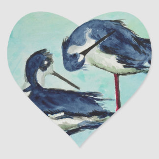 Stilts Bathing - Painting Heart Sticker